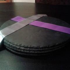 Plato redondo de pizarra 20 cm-Temporalmente no se sirve