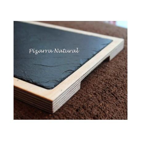 Tabla de pizarra y madera 42X22 CM