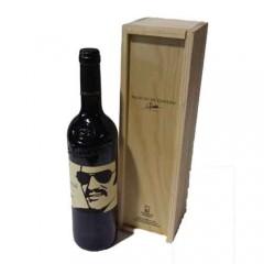 Estuche de madera dos botellas