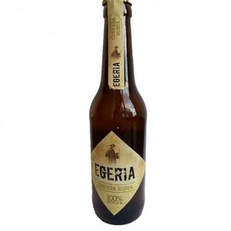 Cerveza artesana Egeria Rubia 33cl. Caja de 6 unidades.