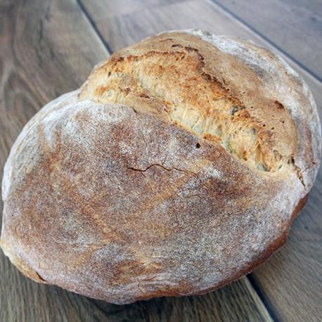 Pan de hogaza de leña