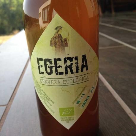 Cerveza artesana y ecológica Egeria Rubia 33cl. Caja de 6 unidades.