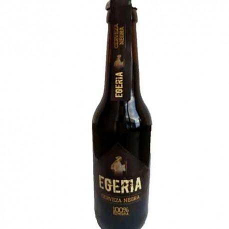 Cerveza artesana Egeria Negra 33cl. Caja de 6 unidades.